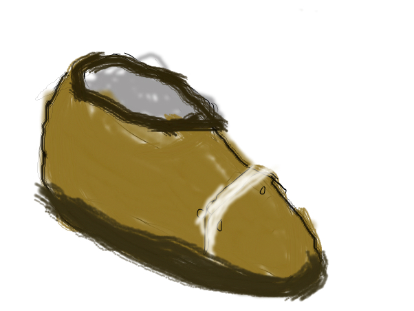 A dirty shoe