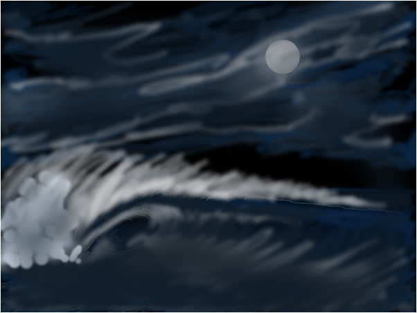 Moonlight wave