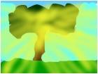 a glowing tree