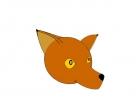 cute little smiling fox head