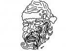 Zombie Santa replica.