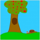 Snail Under An Apple Tree