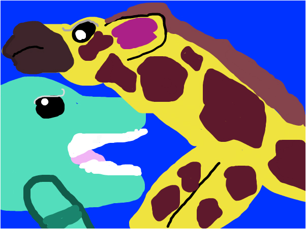 Animal face off dolphin vs giraffe