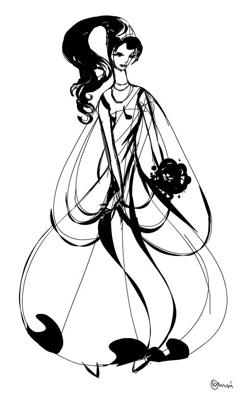 Bridal dress sketch