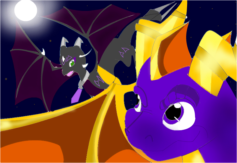 Me as a dragon and Spyro