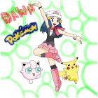 Dawn, Jigglypuff, and Pikachu (Request)
