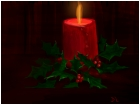 Holly Berries and Candle