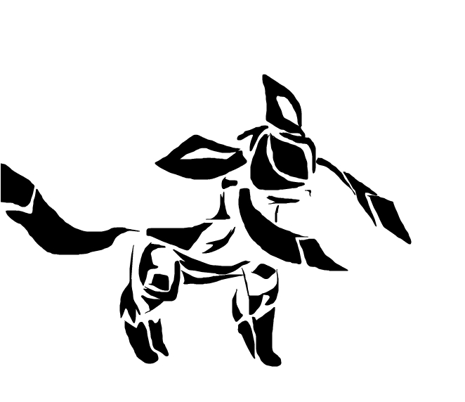 glaceon silhouette