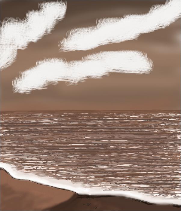 brown sea