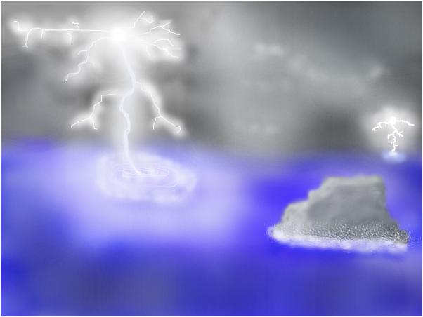 Lightning Kisses the Sea