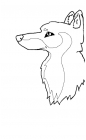 Wolf Profile Lineart