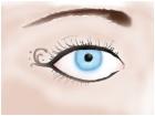 Pale Blue Eye w/ Eyeliner Art