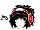 Gothic Headphone boy