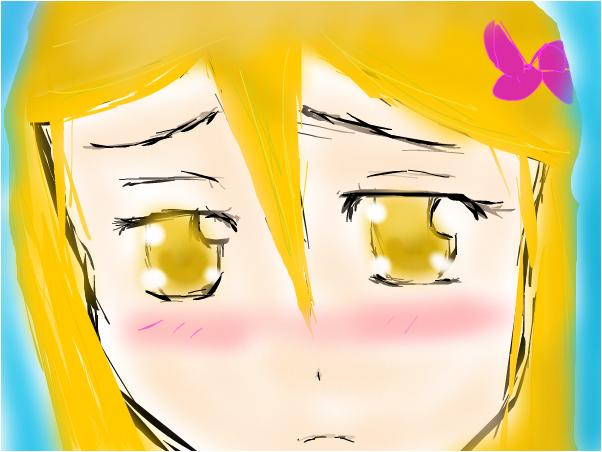 anime girl blushing