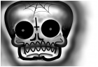 candy skull template