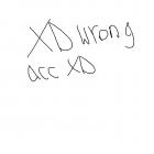 XD wrong acc