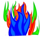 coloured flames
