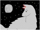 wolf under moon