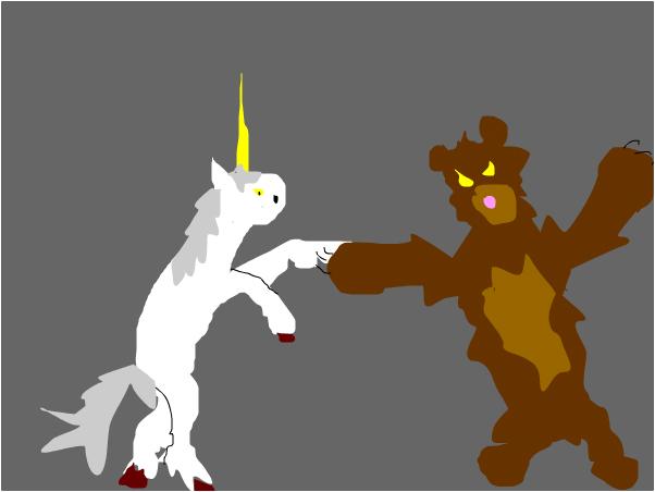 bear and unicorn