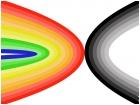 Rainbow VS. Black and White