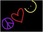 yesenia, peace love smiley