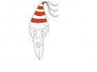Bird Skull Party Hat