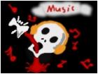 Music and skull