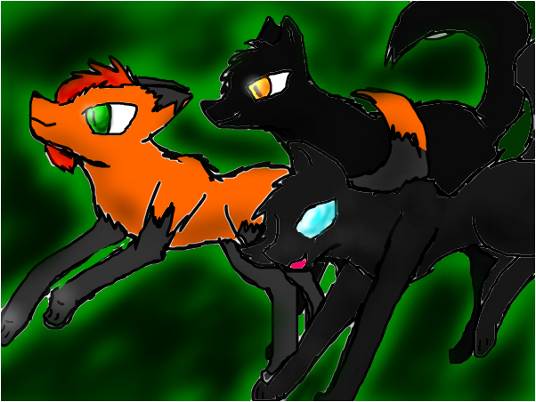 me and my friends, lightning and Blaze!