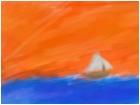 Boat On Sun Set Sea