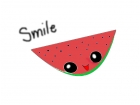 smile with the watermelon