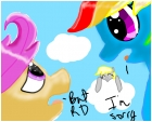 Scootaloo & Rainbow Dash (aka RD)