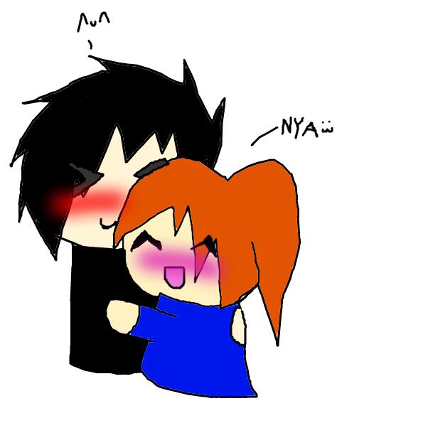 Me and Britt cuddling. c: