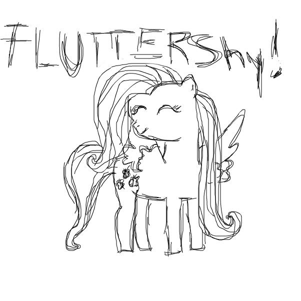 sketchy fluttershy
