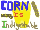 Corn don't digest