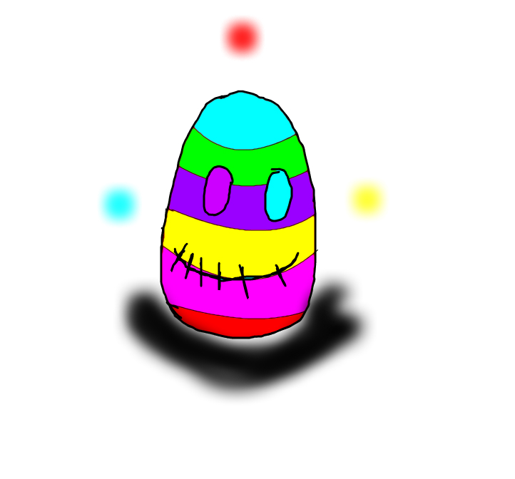rainbow demon egg