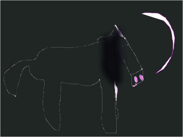 A midnight horse