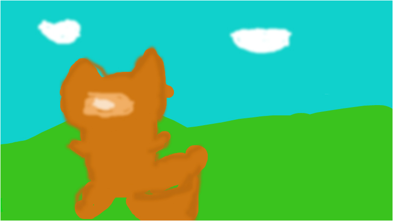 firestar looking at the sky....