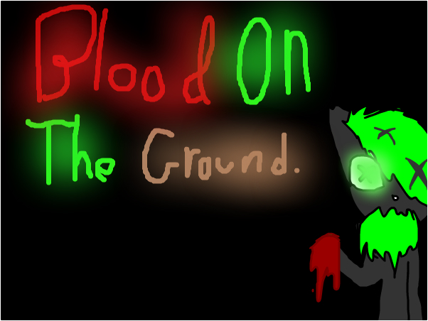 Blood on the ground comic.
