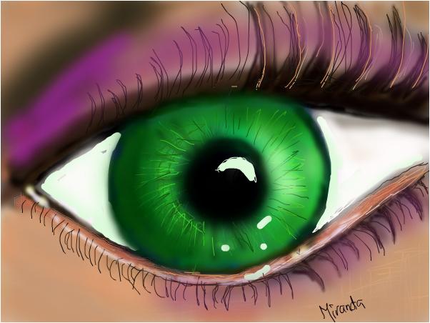 green eye oner blue