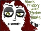 black friday with broken hearts