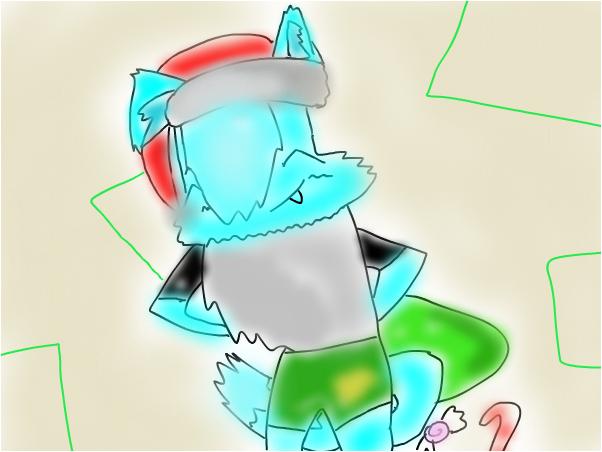 Wait.....Santa doesn't wear green shorts!!
