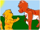 Lionblaze fighting an fox
