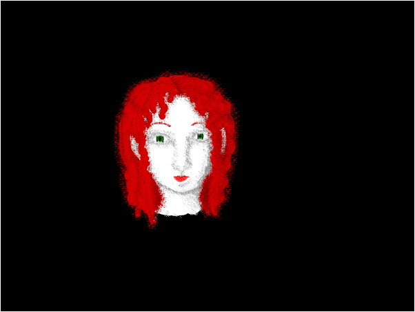 red haired lady