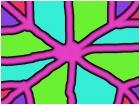 colorful spiderweb