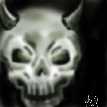 bad devil skull