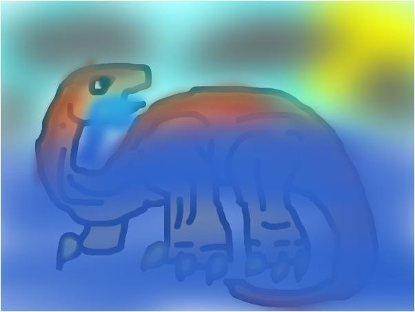 apatosaurus stuck in the ocean