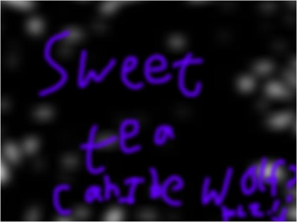 Read mine too sweet tea