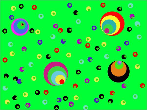 polka dots rainbows randomniss wierdness