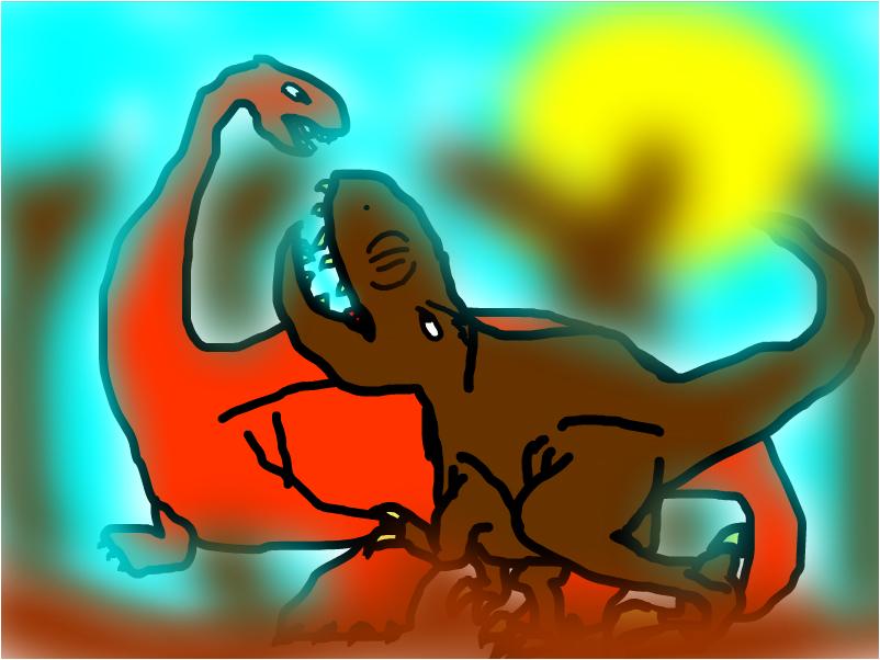 apatosaurus attack