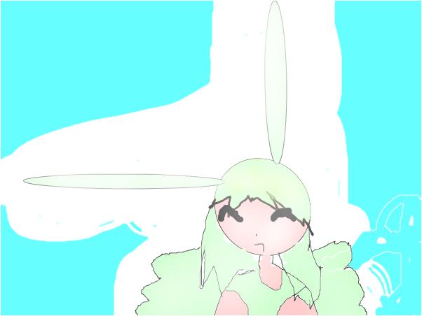 flying mint  bunny